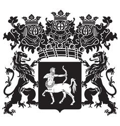 heraldic silhouette No41 vector image vector image
