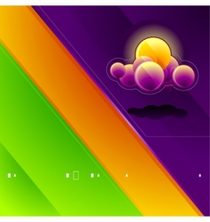 high tech nature background vector image vector image