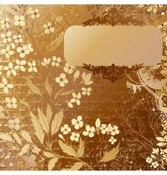 Luxury grunge golden background with handdrawn vector image