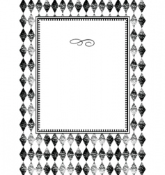 plaid pattern and frame vector image vector image