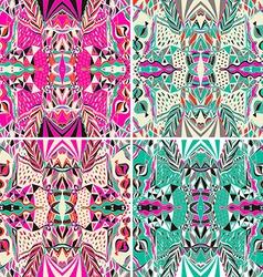 Set of traditional ornamental paisley bandanna vector image