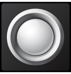White shaded plastic button template vector image
