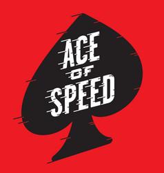 ace of speed retro design vector image