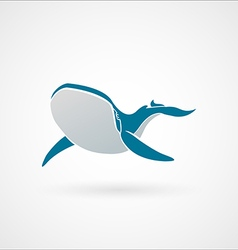 BLUE WHALE logo sign emblem isolated vector image vector image