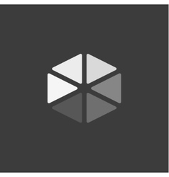 Logos Triangular abstract icons in flat design vector image
