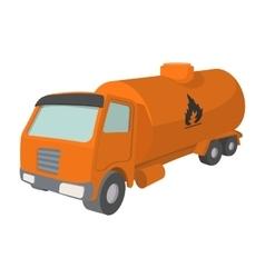 Orange oil truck cartoon icon vector image vector image