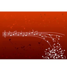 red notes vector image vector image