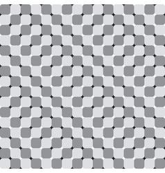 Waving Squares Optical Seamless Pattern vector image