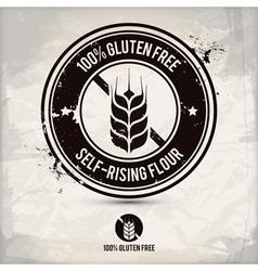 alternative gluten free stamp vector image