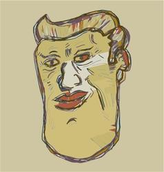 Artistic imaginative face vector