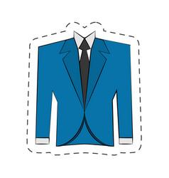 blazer suit jacket man vector image vector image