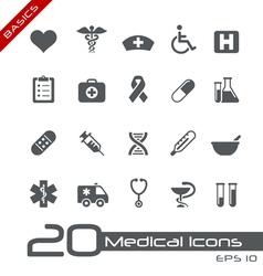 Medicine health care basics series vector