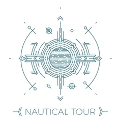 Modern thin line nautical Outline vector image