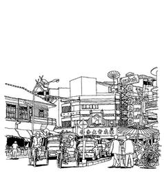Street life sketchbook vector