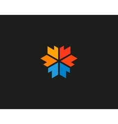 Abstract arrow media logotype 3d edge sign vector