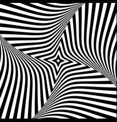 abstract op art design vector image
