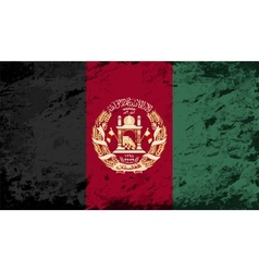 Afghanistan flag grunge background vector