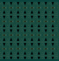 Art deco triangle pattern vector