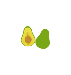 avocado template logo vector image