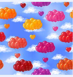 balloons with hearts seamless vector image