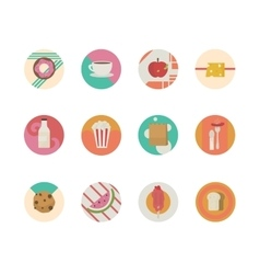Big set of icons flat with shopping bags vector