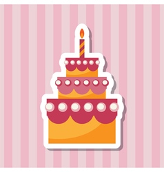birthday cake backing vector image