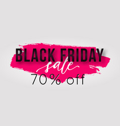 Black friday sale poster with watercolor splash vector
