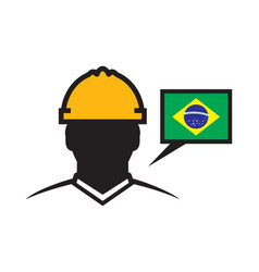 brazil contractor icon vector image