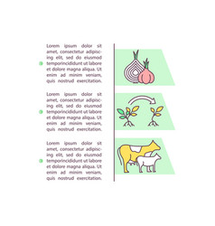 Breeding and crop production concept icon vector