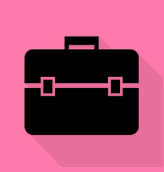 briefcase sign black icon with flat vector image