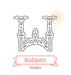 Budapest hungary line icon vector
