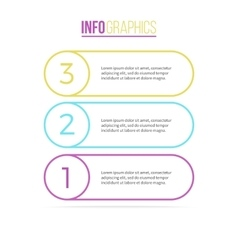 Business infographics List with 3 steps options vector