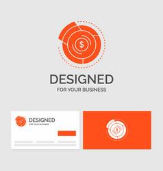 Business logo template for balance budget diagram vector