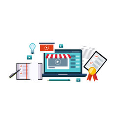 business online internet shopping digital vector image