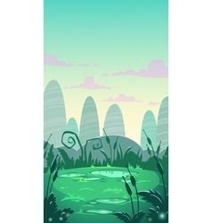 Cartoon vertical landscape vector image