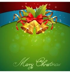 Christmas celebration sparkling postcard vector