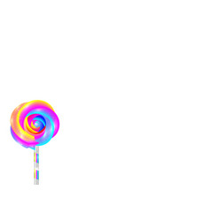 colorful lollipop with flower shape isolated vector image