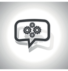 Curved cogs message icon vector