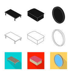 design of bedroom and room symbol vector image