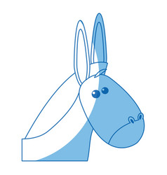 donkey manger animal christmas image vector image