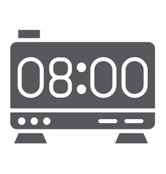 electronic alarm clock glyph icon digital and vector image