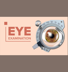 eye test banner correction device vector image