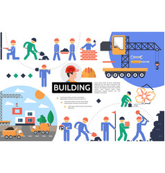 flat building infographic template vector image