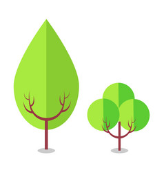 flat tree icons isolated on white vector image