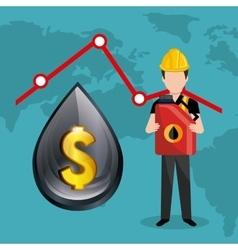 Fuel prices economy design vector