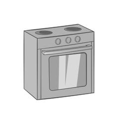 Gas stove icon black monochrome style vector