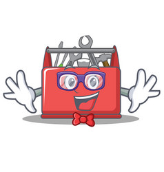 Geek tool box character cartoon vector