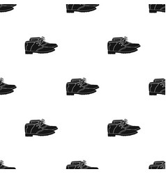 golfer shoesgolf club single icon in black style vector image