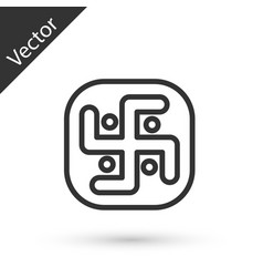 Grey line jainism icon isolated on white vector