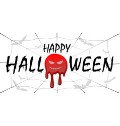 happy halloween card black scary design isolated vector image